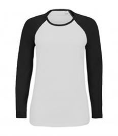SOL'S Ladies Milky Contrast Long Sleeve T-Shirt