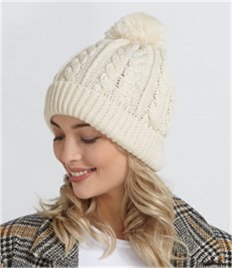 Beechfield Cable Knit Snowstar® Beanie