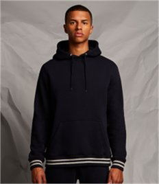 Front Row Unisex Striped Cuff Hoodie