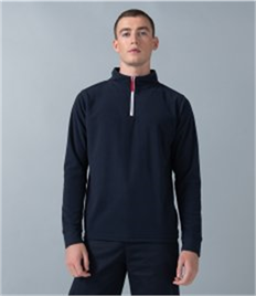 Finden & Hales Piped Zip Neck Fleece