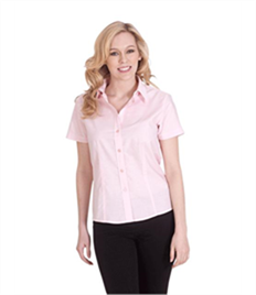Uneek Ladies Poplin Half Sleeve Shirt