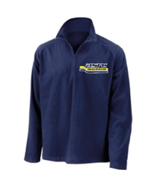 RS112 ASRC Adult Zip Neck Navy Lightweight Fleece