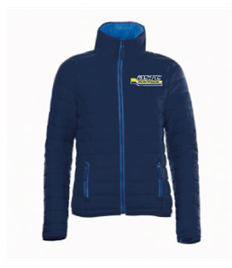 01170 ASRC Ladies Padded Jacket Navy/Royal