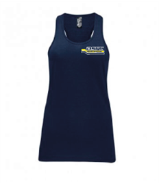 01826 ASRC Ladies 100% Cotton Vest Navy