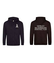 JH050 Yateley Silverbacks Zipped Hoodie