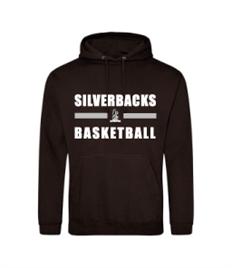 JH001 Yateley Silverbacks Black Overhead Hoodie
