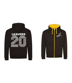 JH053 Zipped Contrast Calthorpe Leavers Hoodie