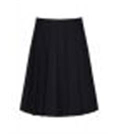 Pleated Skirt, Navy, 22-26